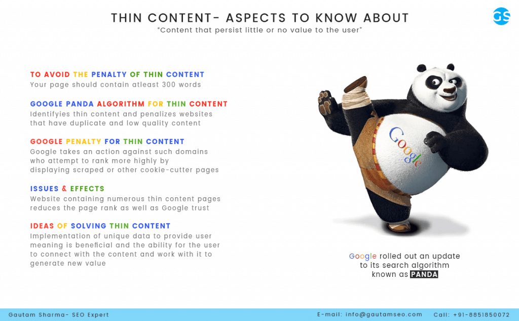 thin content and how to avoid it